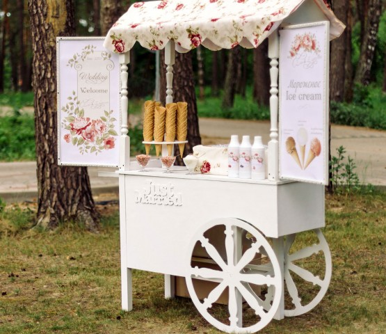 Allow ice cream to keep your guests cool at your wedding!